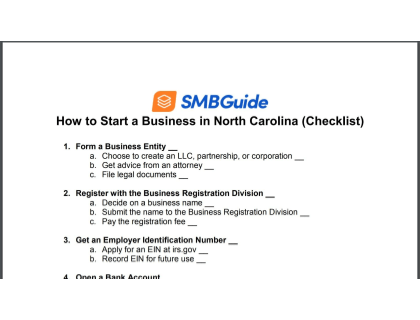 How To Start A Business In North Carolina Checklist