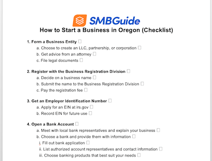How To Start A Business In Oregon Checklist 420X320 20190801