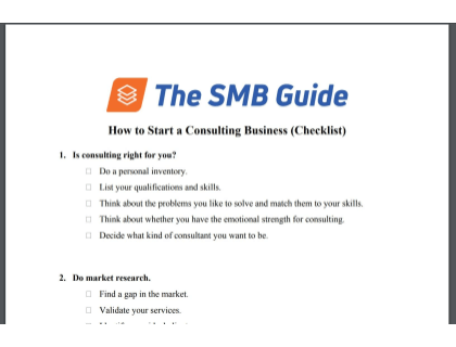 How to Start a Consulting Business Checklist