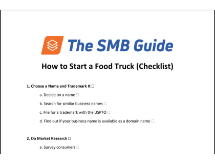 How To Start A Food Truck Checklist