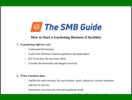 How to Start a Gardening Business Checklist