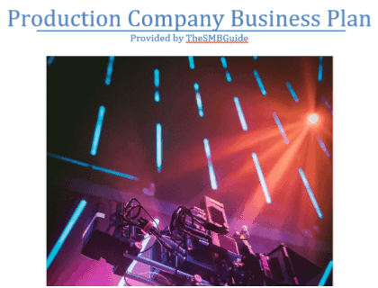 How To Start A Production Company Business Plan Template