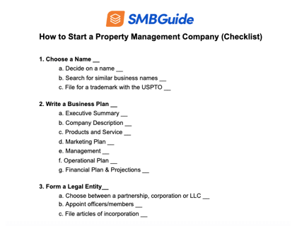 How To Start A Property Management Company Checklist