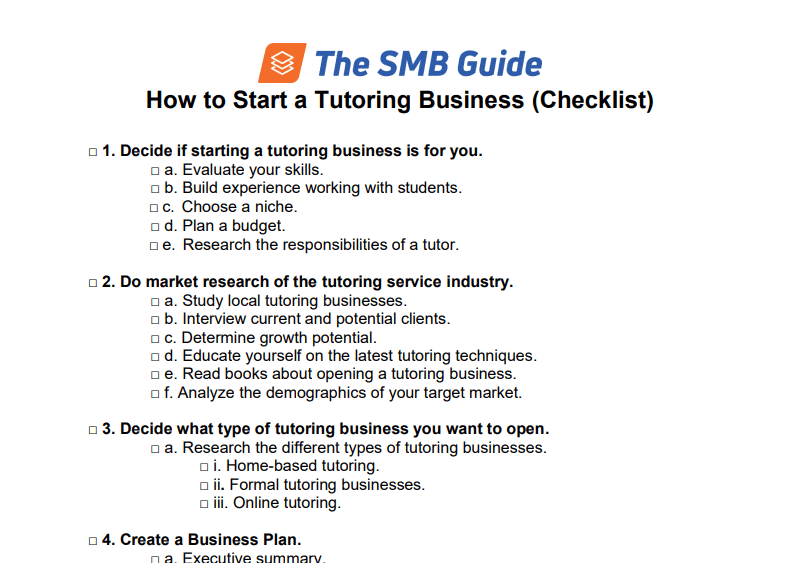 How To Start A Tutoring Business 20200130