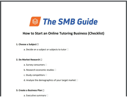 How to Start an Online Tutoring Business Checklist