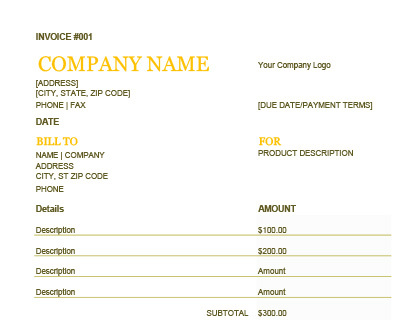 Invoice Template Free Templates For Word Excel And More