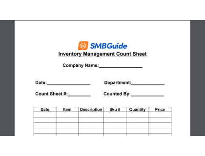 Manual Inventory Count Sheet Download