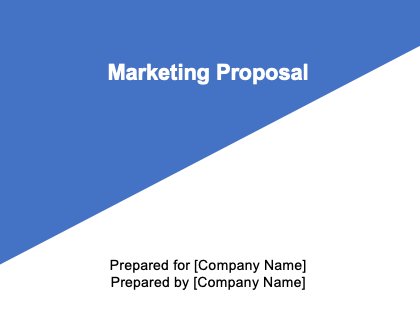 Marketing Proposal Template Download