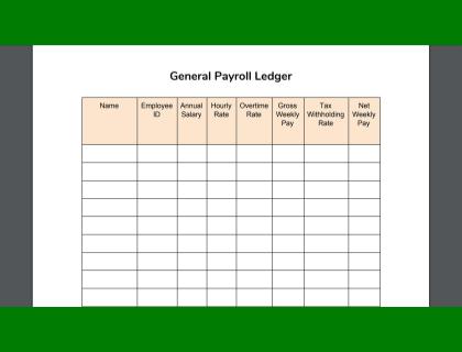 Payroll Ledger Sample