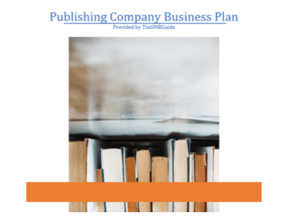Publishing Company Business Plan Template
