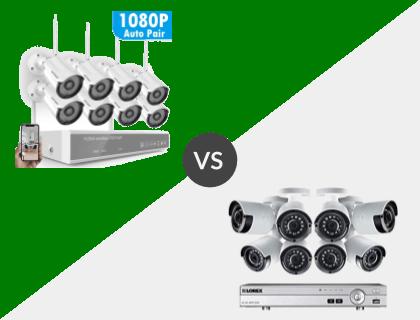 Safevant 8CH 1080P NVR Wireless System vs. Lorex 8CH Wired 4K 2TB DVR System
