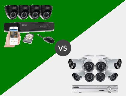 SANSCO 4CH 1080P DVR System vs. Lorex 8CH Wired 4K 2TB DVR System