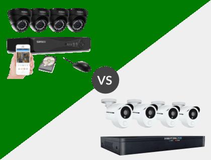 SANSCO 4CH 1080P DVR System vs. Night Owl 8 Channel HD 1TB DVR System