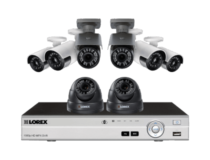 Security System with 1080p Varifocal and Ultra Wide Angle Cameras MPX16422VDUW