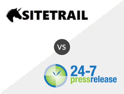 SiteTrail vs. 24-7pressrelease.com