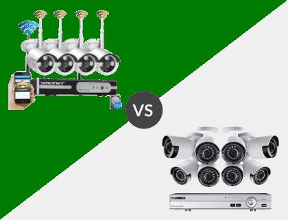 SMONET 8CH Wireless 1080P NVR System vs. Lorex 8CH Wired 4K 2TB DVR System