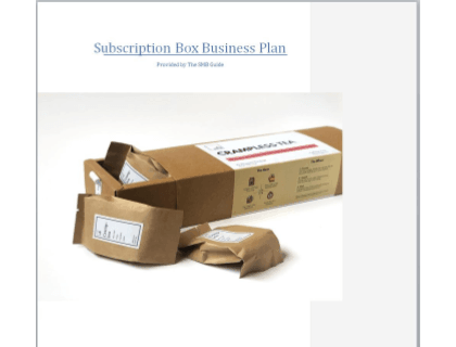 Subscription Box Business Plan