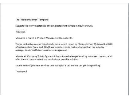 The 'Problem Solver' Template