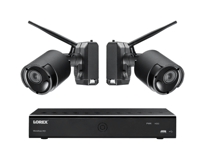 Lorex Wireless System with 2 Rechargeable Wire Free Cameras (LWF2080B-62)