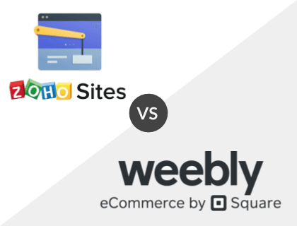 Zoho Sites Pro vs. Weebly Professional